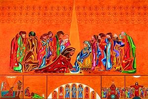 Le lavement des pieds - Eglise St Tugdual (56)